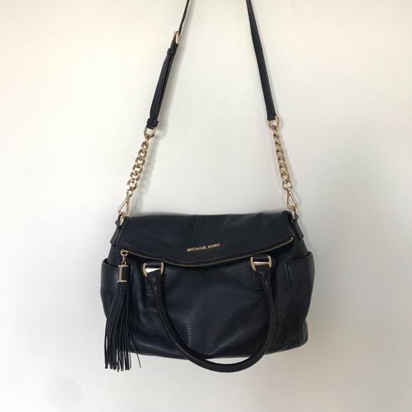 Michael Kors Handbags - Michael Kors Weston Crossbody Satchel Navy Blue